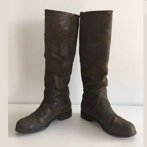 0c9611eee85 Jimmy Choo Shoes - JIMMY CHOO DOREEN OLIVE WAXED SUEDE MOTO BOOTS